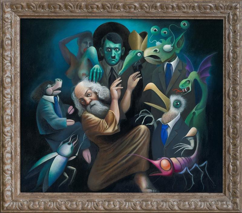 Die Versuchungen des Heiligen Antonius  Diethard Sohn 2008 Acryl auf Leinwand