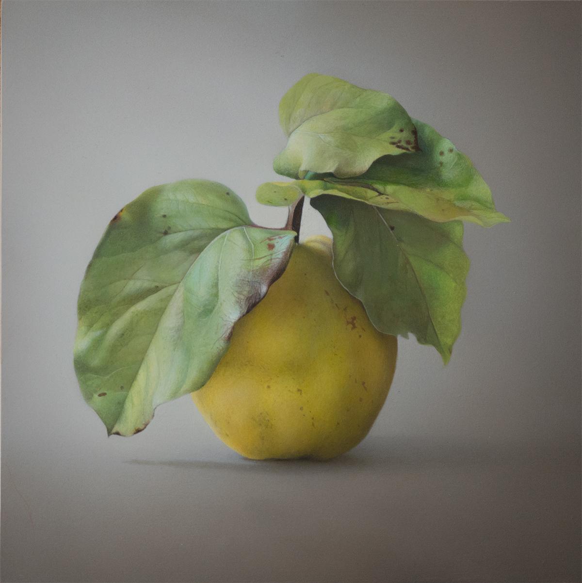 Quitte 11 © Diethard Sohn 2018 Acryl auf HDF 30 x 30 cm (verkauft)